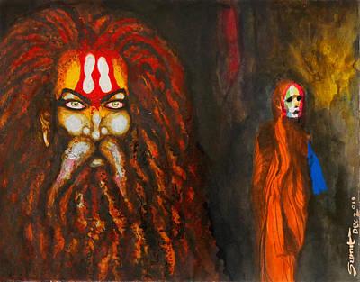 Kumbh Print by Sumit Banerjee
