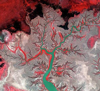 Satellite Image Photograph - Kumbunbur Creek by Kari/european Space Agency