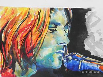 Kurt Cobain Print by Chrisann Ellis