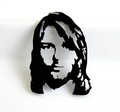 Kurt Cobain Necklace Laser Cut Original by Rony Bank