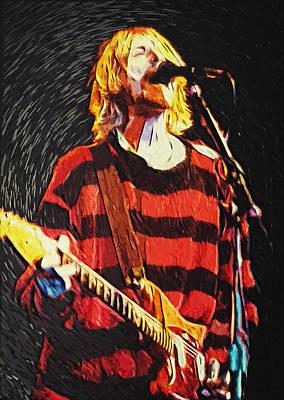 Pearl Jam Digital Art - Kurt Cobain by Taylan Soyturk