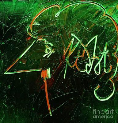 Abstract Digital Painting - Kurt Vonnegut by Michael Kulick