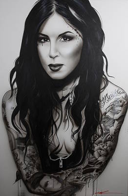 Kat Von D - 'k.v.d. II' Original by Christian Chapman Art