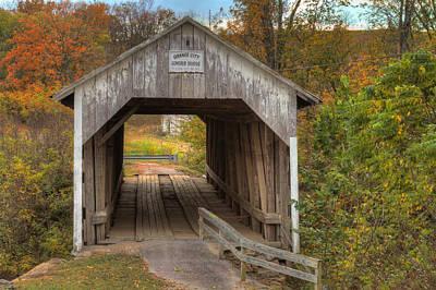 Ky Hillsboro Or Grange City Covered Bridge Print by Jack R Perry