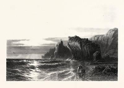 Kynance Rocks, Cornwall, Uk, Britain, British Print by English School