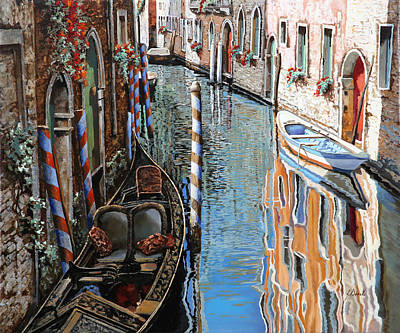 Venedig Painting - La Barca Al Sole by Guido Borelli