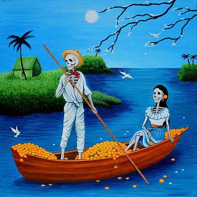 Painting - La Barca by Evangelina Portillo