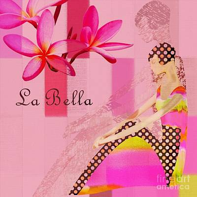 La Bella  - Pink - 055152176-02 Print by Variance Collections