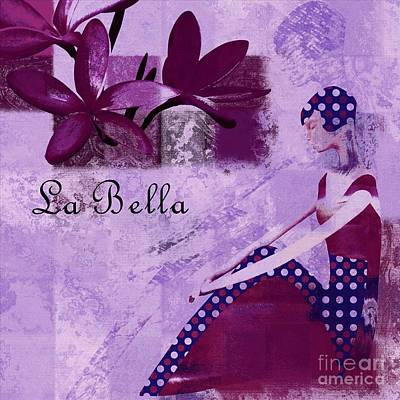 La Bella - Plum - 0640671052-01b Print by Variance Collections