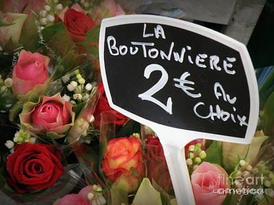 La Boutonniere Print by Lainie Wrightson