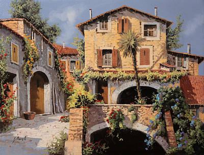 La Casa E La Palma Print by Guido Borelli