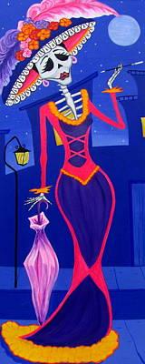Painting - La Catrina by Evangelina Portillo