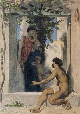 Romaine Digital Art - La Charite Romaine by William Bouguereau
