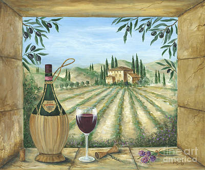 Italian Wine Painting - La Dolce Vita by Marilyn Dunlap