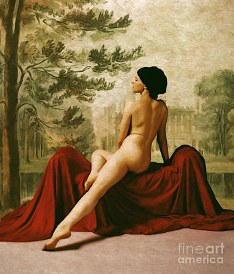 Nude Digital Art - La Donna Che Aspettava Or The Lady Who Waited by Cinema Photography