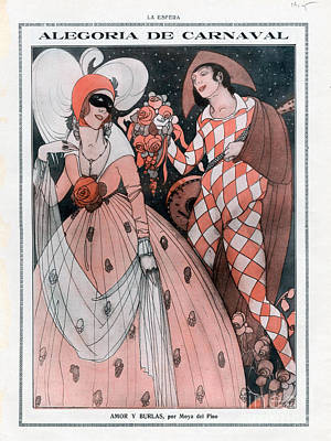 Nineteen-tens Drawing - La Esfera 1910 1910s Spain Cc Carnivals by The Advertising Archives