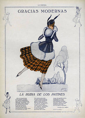Nineteen-tens Drawing - La Esfera  1916 1910s Spain Cc Winter by The Advertising Archives