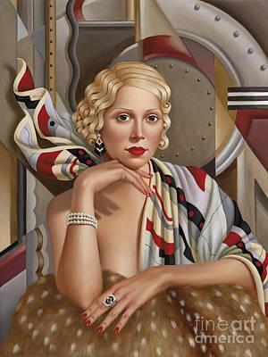 Bracelet Painting - La Femmeen Soiehi  by Catherine Abel