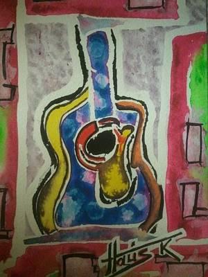 Painting - La Guitare Deux by Gayla Abel Hollis