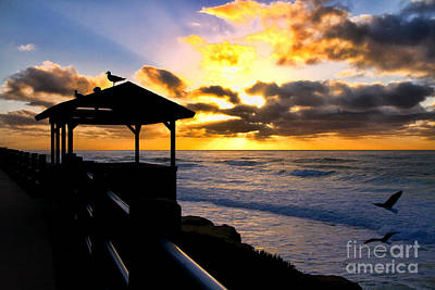 La Jolla At Sunset By Diana Sainz Print by Diana Sainz