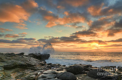 Fruits Photograph - La Jolla Cove At Sunset by Eddie Yerkish