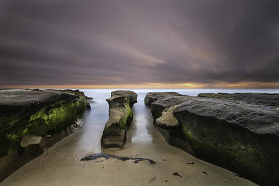 Long Exposure Photograph - La Jolla Reef by Larry Marshall
