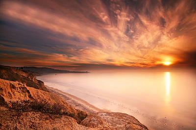 Long Exposure Photograph - La Jolla Sunset 5 by Larry Marshall