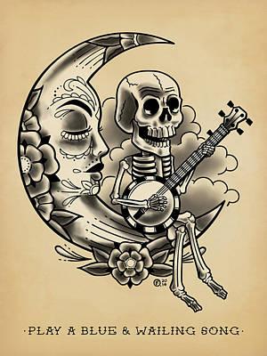 Tattoo Flash Drawing - La Loretta by O Foley