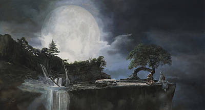 Moon Painting - La Luna Bianca by Guido Borelli