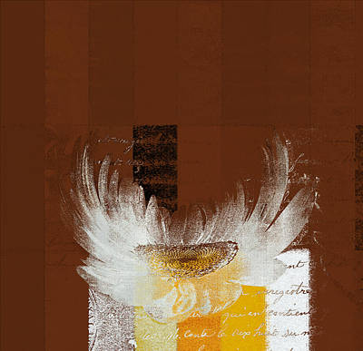 Peaches Digital Art - La Marguerite - 049143067 by Variance Collections