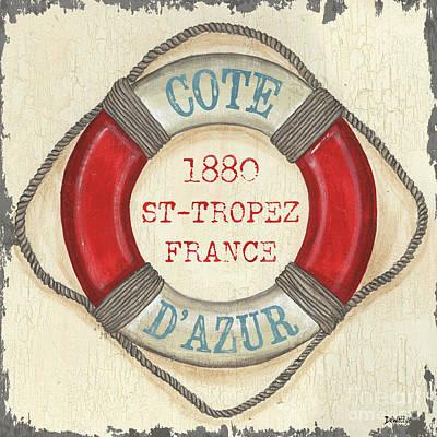 La Mer Cote D'azur Print by Debbie DeWitt