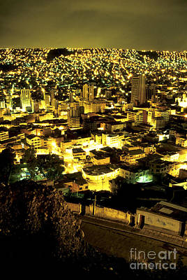 Architectur Photograph - La Paz Cityscape Bolivia by Ryan Fox