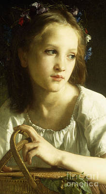 Innocence Painting - La Petite Ophelie by William Adolphe Bouguereau