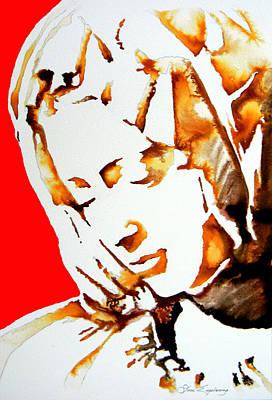 La Pieta Face Print by Jose Espinoza