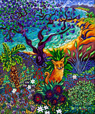 Jacaranda Tree Painting - La Playa Del Zorro by Cathy Carey