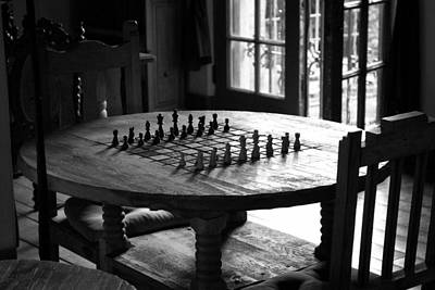 Chess Photograph - La Posada Game Room by John Nelson