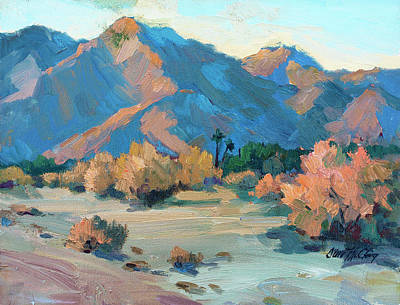Morning Light Painting - La Quinta Cove - Highway 52 by Diane McClary