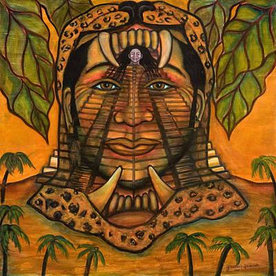 La Reina De Los Jaguares Print by Yovannah Diovanti
