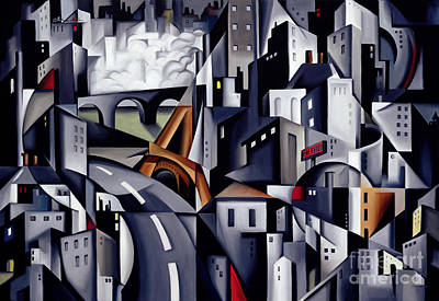 Town Painting - La Rive Gauche by Catherine Abel