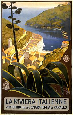 La Riviera Italienne Print by Georgia Fowler