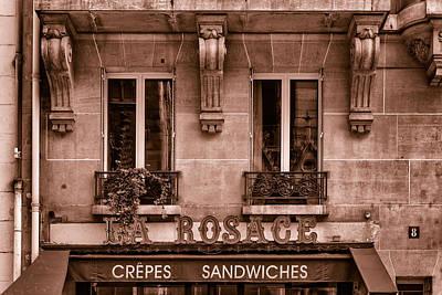 Pause Photograph - La Rosage - Toned by Georgia Fowler