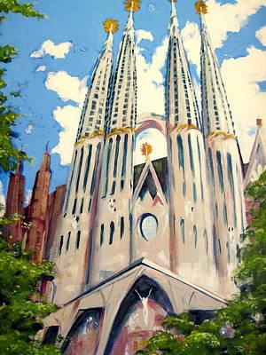 La Sagrada Familia Print by Darrell Sheppard