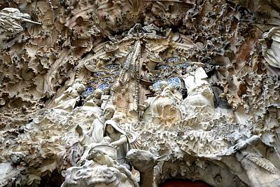 Barcelona Digital Art - La Sagrada Familia In Barcelona - Gaudi by Toby McGuire
