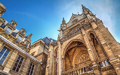 Paris Photograph - La Sainte-chapelle  A Contrast In Design by Tim Stanley