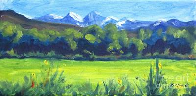 Sal Trees Painting - La Sals Revisited by Katrina West