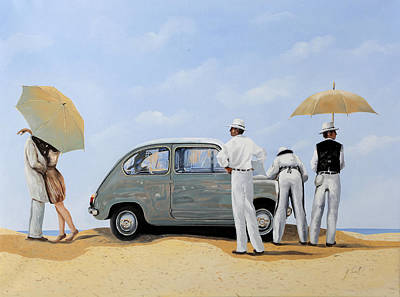 Transportation Painting - La Seicento by Guido Borelli