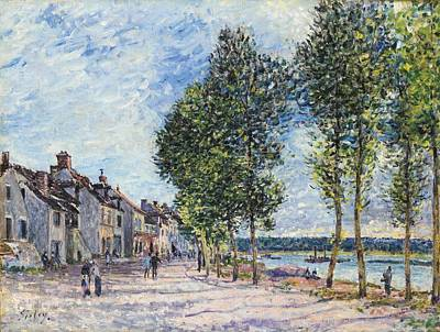 Horizontal Painting - La Seine A Bougival by Celestial Images