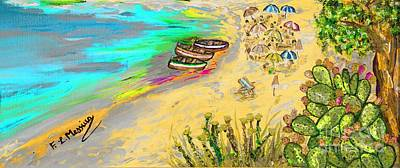 Colourful Mixed Media - La Spiaggia by Loredana Messina