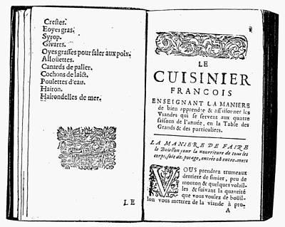 Cookbook Painting - La Varenne Cookbook, 1686 by Granger