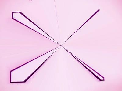 Visual Communication Digital Art - La Vie En Rose 09   3.23.14 by Rozita Fogelman